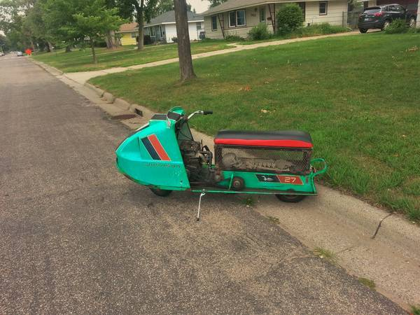 best of craigslist: Johnson Snowmobile/scooter