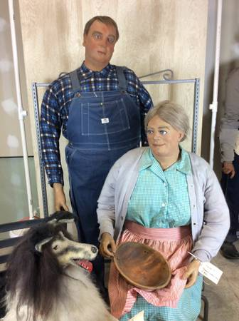 best of craigslist full size wax figures dressed in amish wardrobe